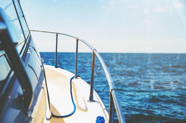 ボートから見た景色