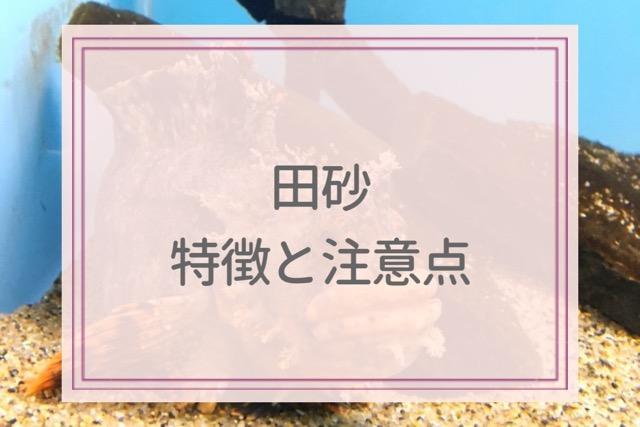田砂の特徴と注意点