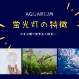 アクアリウム用、蛍光灯の特徴