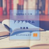 アクアリウムの用語集