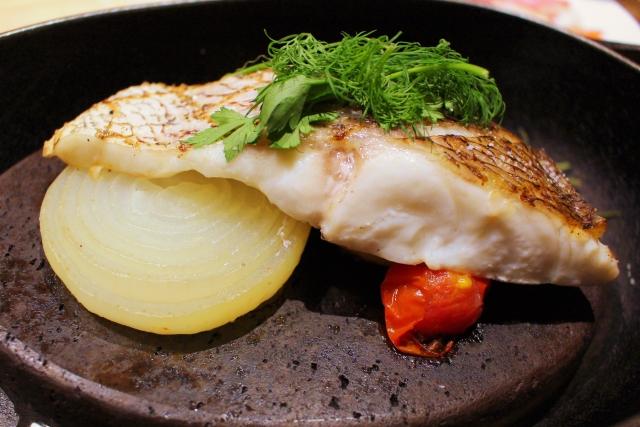 敦賀真鯛の焼き魚