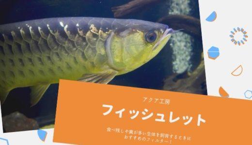 【フィッシュレット】水を汚しがちな中型から大型の生体にぴったり!